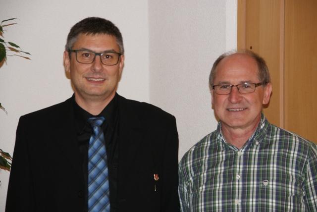 Dirigent Peter Schirmer und Kassier Ulrich Santherr